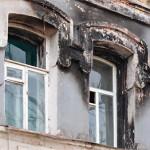 Ремонт фасадов зданий после пожара