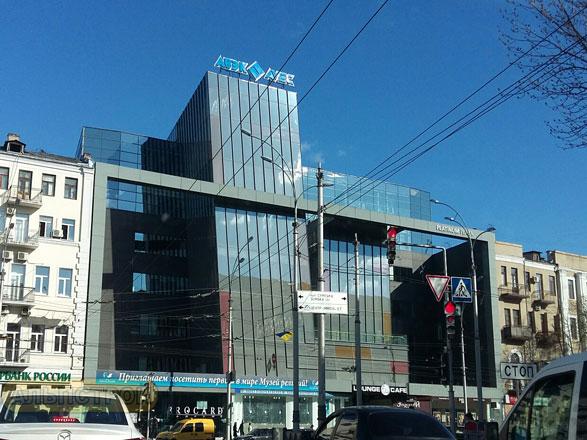 Мойка здания Авэк в Харькове фото