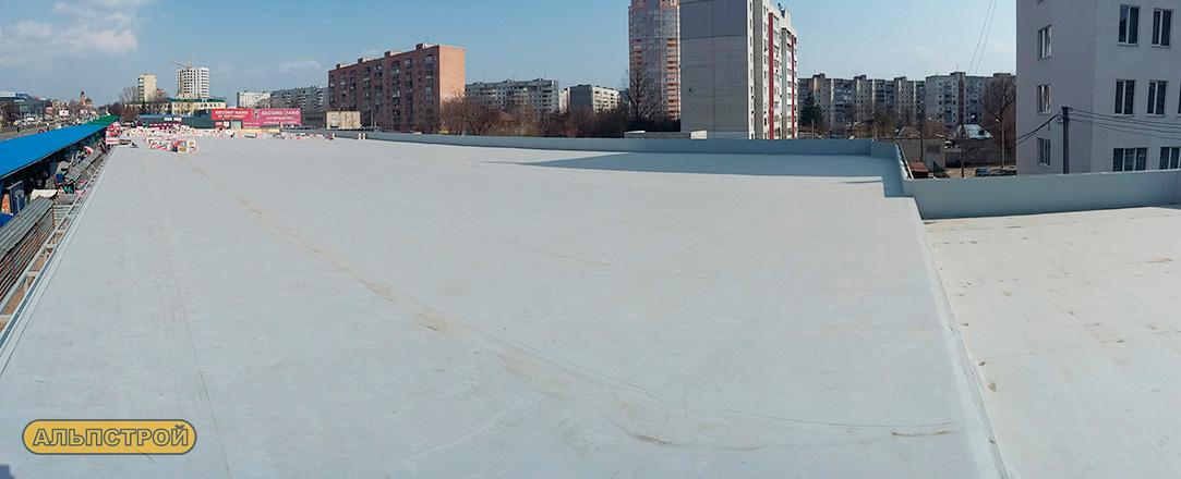 Ремонт мембранной кровли объекта на Холодной Горе в Харькове