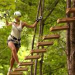 Высотные работы по строительству веревочного парка в Харькове под ключ
