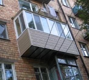 Ремонт балкона многоэтажного дома