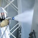 Покраска металлоконструкций цехов методом безвоздушного распыления