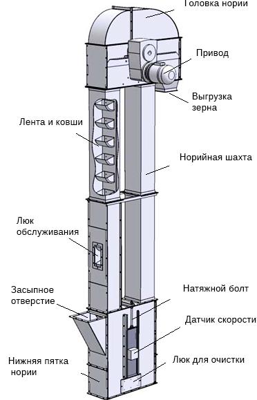 Схема нории