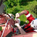 Установка солнечных батарей с привлечением промышленных альпинистов