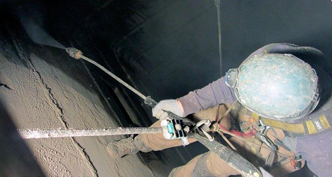 Промышленный альпинизм - герметизация швов