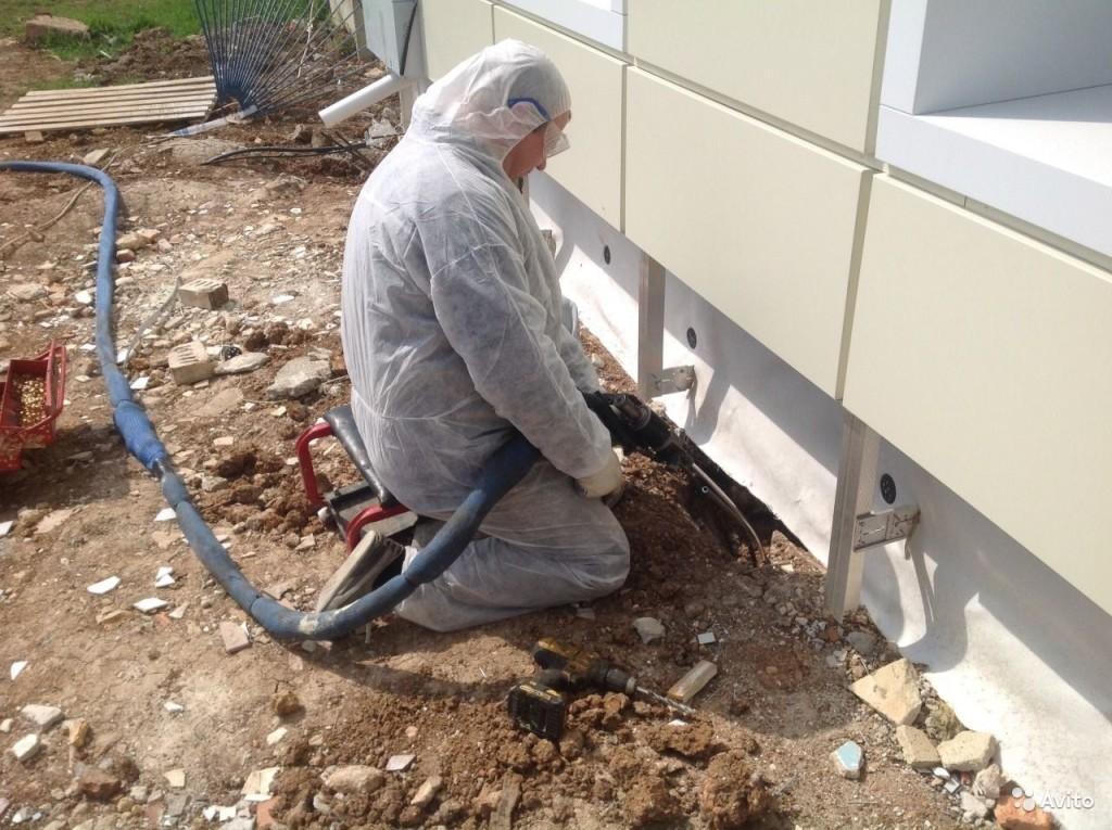 ремонт трещин в фундаменте методом инъектирования