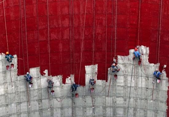 Высотные работы по утеплению фасадов в Харькове